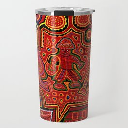 Kuna Indian Men in Canoes Travel Mug