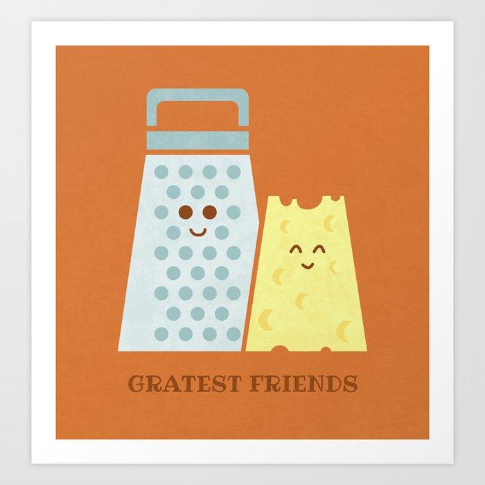 Cheesy Friendship Art Print