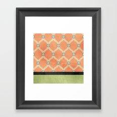 Tangerine Deco Framed Art Print