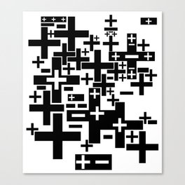 PLUS/MINUS Canvas Print