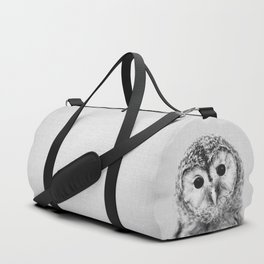 Baby Owl - Black & White Duffle Bag