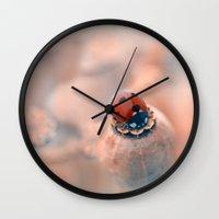 ladybug Wall Clocks featuring Ladybug. by Mary Berg