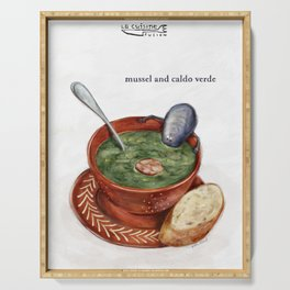 La Cuisine Fusion - Mussels with Caldo Verde Serving Tray