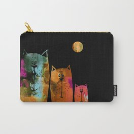 Cat Family at Night Carry-All Pouch