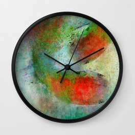 Koi Swimming Wall Clock