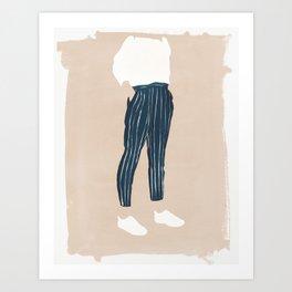 Pinstriped Art Print