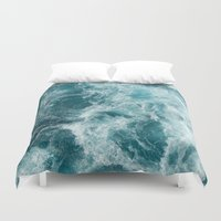 photograph Duvet Covers featuring Sea by Vickn