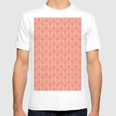 Midcentury Pattern 06 White Mens Fitted Tee MEDIUM