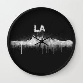Los Angeles City Skyline HQ v5 WB Wall Clock