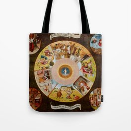 """Hieronymus Bosch """"The Seven Deadly Sins and the Four Last Things"""" Tote Bag"""