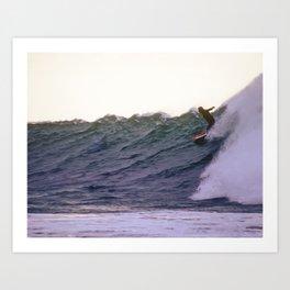 George Greenough Rides Rincon Point Art Print