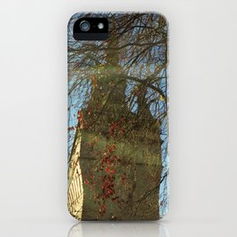 Old Tower And Leafless Branches iPhone Case