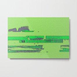 Minty Metal Print