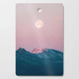 Moon and the Mountains – Landscape Photography Cutting Board