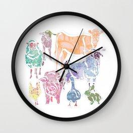 The Colourful Farm Sanctuary Wall Clock