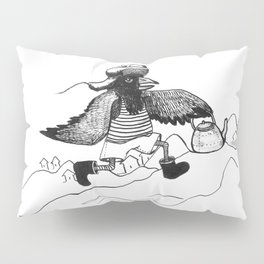A Raven with a strict wife Pillow Sham