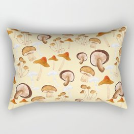 mushroom pattern watercolor painting Rectangular Pillow