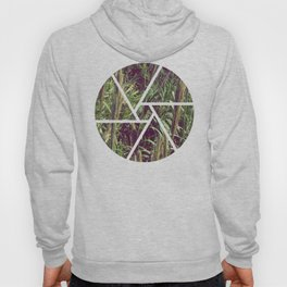 Into the fields plants green wet vintage Hoody