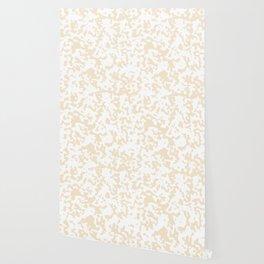 Spots - White and Champagne Orange Wallpaper