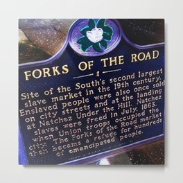 African American Portrait, Forks of the Road, Natchez by Jeanpaul Ferro Metal Print