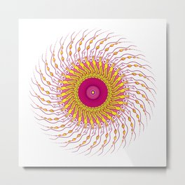 For when you enfold me in your complexities Metal Print