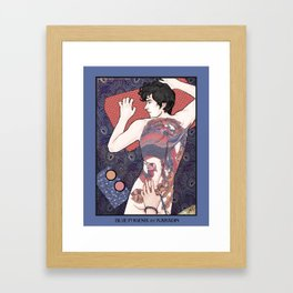 Blue Phoenix Framed Art Print