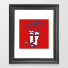 Soccer Socks Framed Art Print