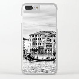 Gondola and tourists in Venice Clear iPhone Case
