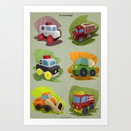 Toy Trucks!  Art Print