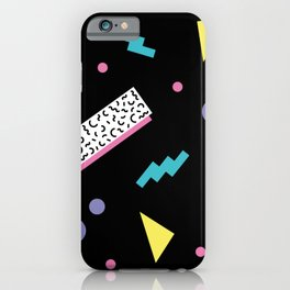 Memphis pattern 45 - 80s / 90s Retro iPhone Case
