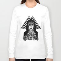 laura palmer Long Sleeve T-shirts featuring She's Filled with Secrets - Laura Palmer - Twin Peaks by Alice Rogers