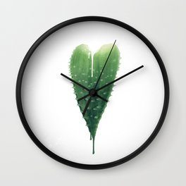Love Hurts (Aloe Vera) Wall Clock