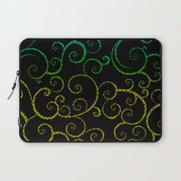Rainbow Swirls Pop Art Laptop Sleeve