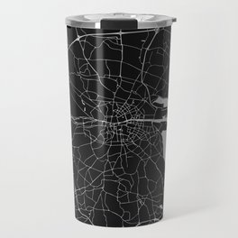 Black on Light Gray Dublin Street Map Travel Mug