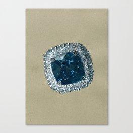 Dehres Blue Spinel and Diamonds Close up Illustration  Canvas Print