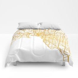 MELBOURNE AUSTRALIA CITY STREET MAP ART Comforters