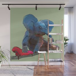 animals in chairs #25 The Elephant Wall Mural