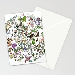 bird menagerie Stationery Cards