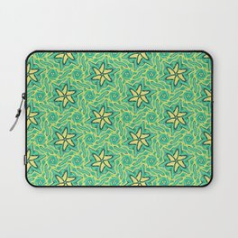 green yellow geometric floral pattern Laptop Sleeve