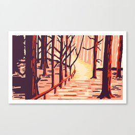 Autumn Sherwood forest Canvas Print