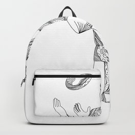 Aussie Rules Football Player Jumping Doodle Backpack