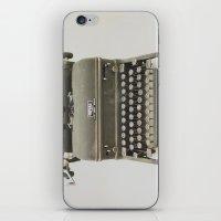 typewriter iPhone & iPod Skins featuring Typewriter by LUKE/MALLORY
