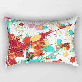 Paint Party 2 Abstract Rectangular Pillow