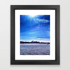 Seattle Lake Landscape Framed Art Print