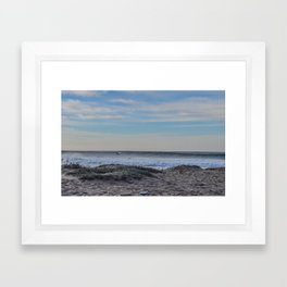 Dolphin in a Wave  Framed Art Print