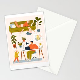 Stay at home. Stationery Cards