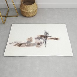 The Warrior for Justice - 151124  Abstract Watercolour Rug