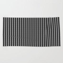 Abstract Tribal Zebra Pattern Beach Towel