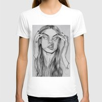 cara T-shirts featuring Cara by David Pérez