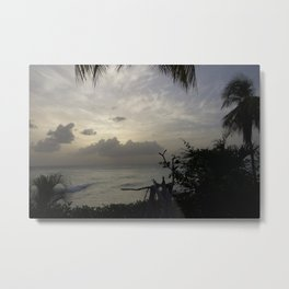 Barbados Sunset Metal Print